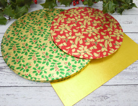 Christmas Festive Cake Boards