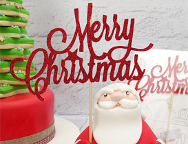 Christmas Cake Decorations - Claydough Figurines