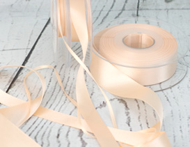 Peach Cake Ribbons