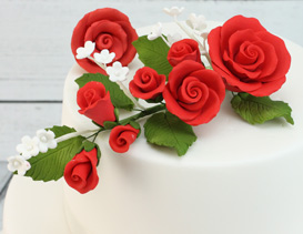 Red Icing Flowers & Sprays