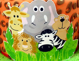 Jungle & Safari Animal Cake Toppers
