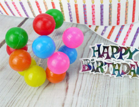 balloon candles and balloon cake decorations
