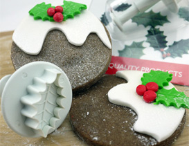 Icing Cutters For Leaves, Holly, Ivy...