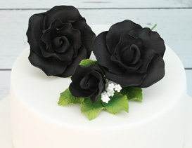 Black Icing Flowers & Sprays