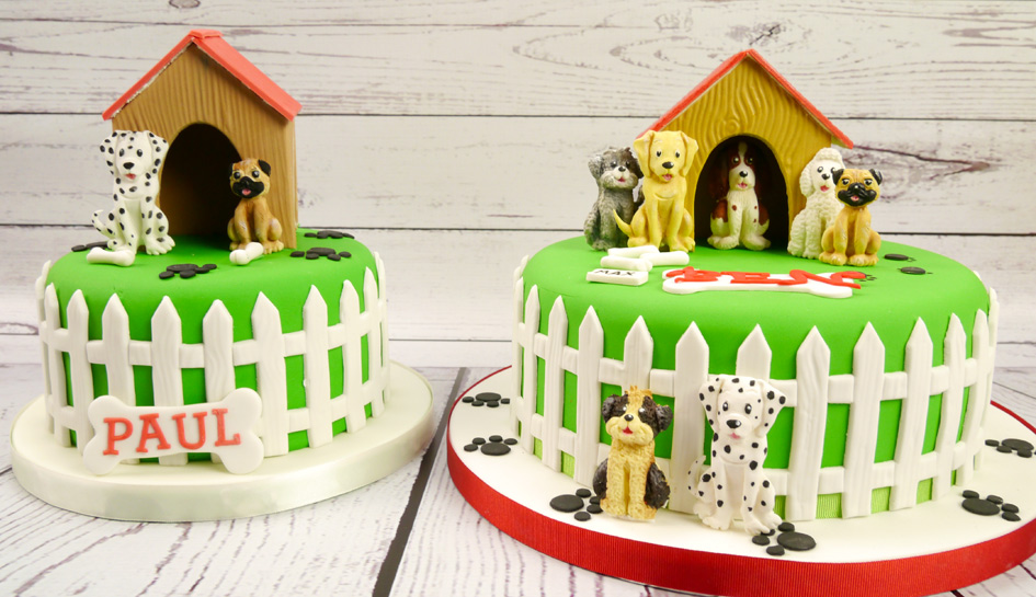 Dog Kennel Cake Cute Toppers