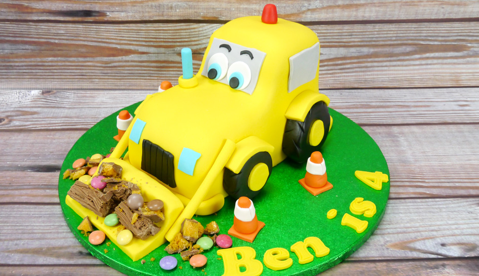 Admirable How To Make A 3D Digger Cake Cake Craft World Funny Birthday Cards Online Necthendildamsfinfo