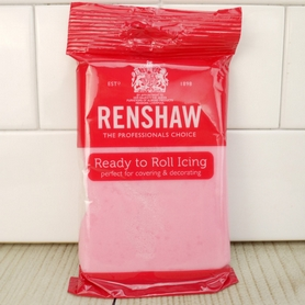 Renshaw Ready To Roll Pink Icing (Sugarpaste)