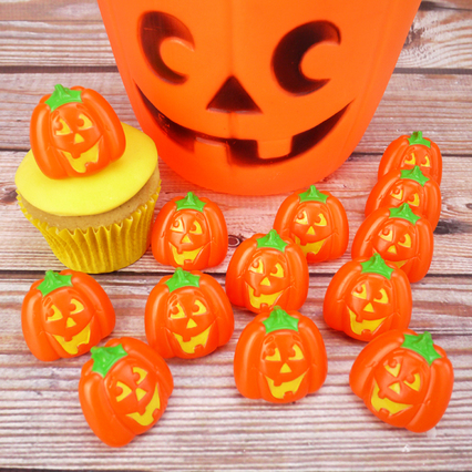 Halloween Pumpkin Rings Cake Toppers