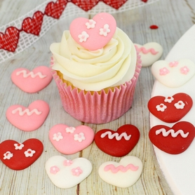 Red, Pink & White Assorted Icing Hearts