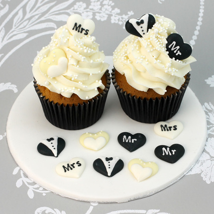 Mr & Mrs Love Heart Pipings (12pc.)