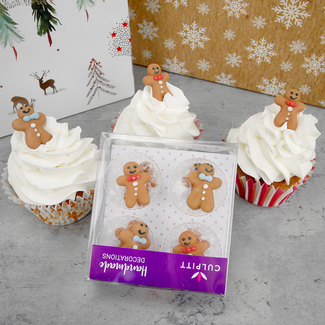 Gingerbread Man Sugar Decorations (12Pc.)