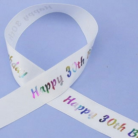 1 Metre Length Of Happy 30th Birthday Ribbon