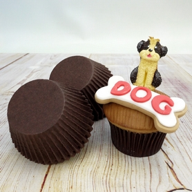 Brown Greaseproof Cupcake Cases