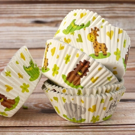 Jungle Animal Muffin Cases (100 pc.)