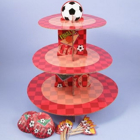 Red Football Cupcake Kit With Stand