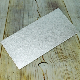 12 Inch X 4 Inch Silver Single Thick Card
