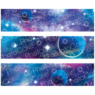 Galaxy  Sprinkles Mix Purple Silver Stars Space Cupcake Decorations 50g