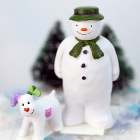 The Snowman And The Snowdog Resin Figurines