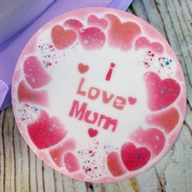 'I Love Mum' Sugar Plaque