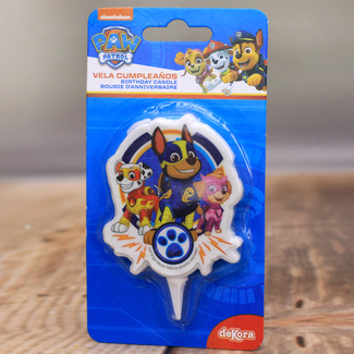 Paw Patrol Novelty Candle With Chase And Marshall