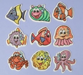 Pack Of 9 Sealife Sugar Plaques