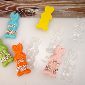 5 Cavity Funny Bunny Mould