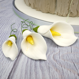 Handmade Sugar Calla Lily In White