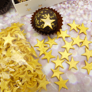 Gold Lustre Sugar Star Confetti