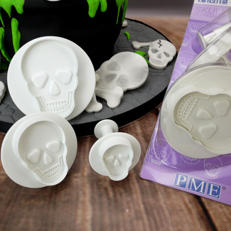PME Skull / Day Of The Dead Plunger Cutter Set (3Pc.)