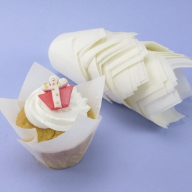 Pack Of 50 White Tulip Muffin Wraps