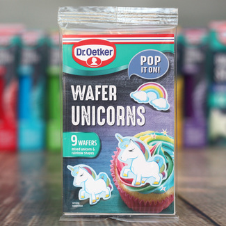 Dr.Oetker Wafer Unicorns And Rainbow Cupcake Toppers (9Pc.)