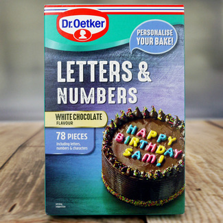 Dr. Oetker White Chocolate Flavour Letters & Numbers
