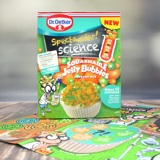 Dr. Oetker Spectacular! Science Squashable Jelly Bubbles Cupcake Mix