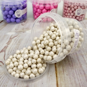 90g Tub Of Shimmer Pearl Edible Balls