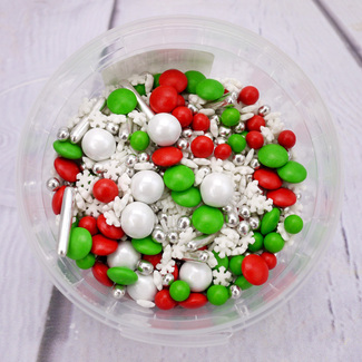 Red, White And Green Christmas Sprinkles (Elf Mix By Purple Cupcakes)