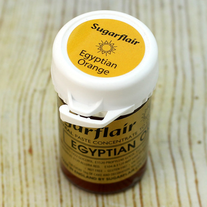 Sugarflair Egyptian Orange Food Colouring