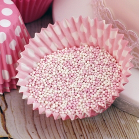 Pink & White Mix Mini Sugar Pearl Sprinkles