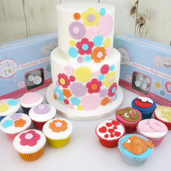 Flowers And Shapes Push Easy Plunger Cutter Sets By Cake Star