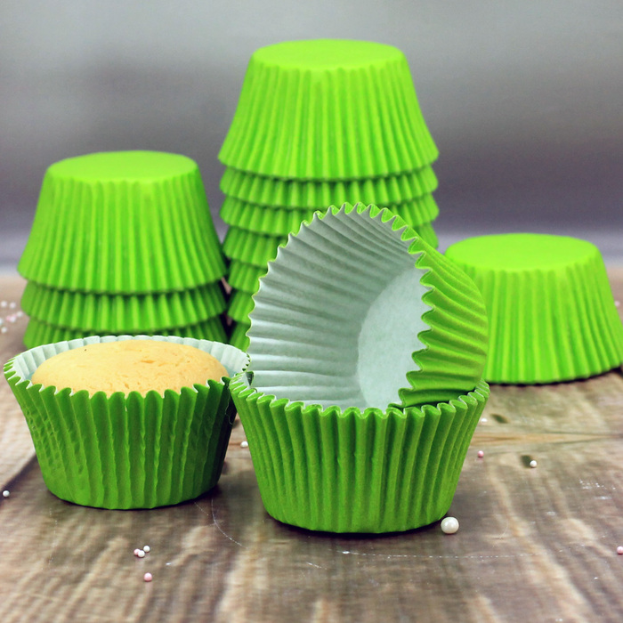 Party Green Cupcake Cases