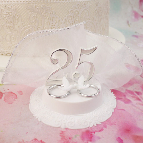 25th Silver Anniversary Cake Decorations Decorations