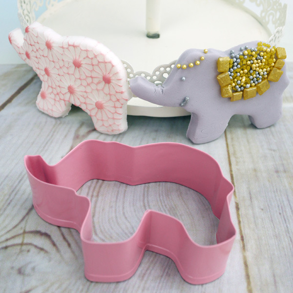 Elephant Cutter For Cake Decorating : Metal Elephant Cookie Cutter