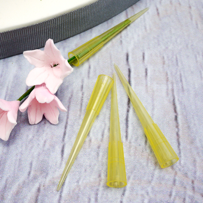 Small Yellow Plastic Flower Picks