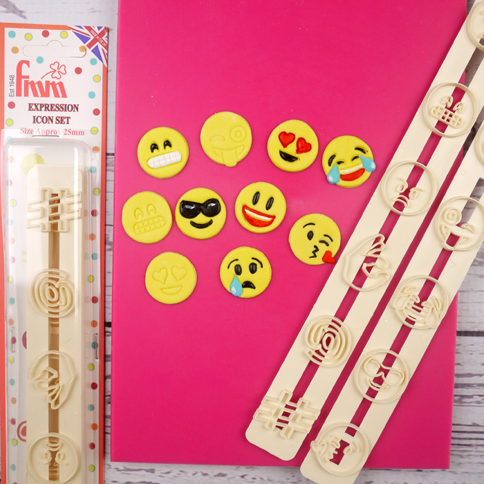Fmm Expression Icon / Emoticon Tappit Cutter Set