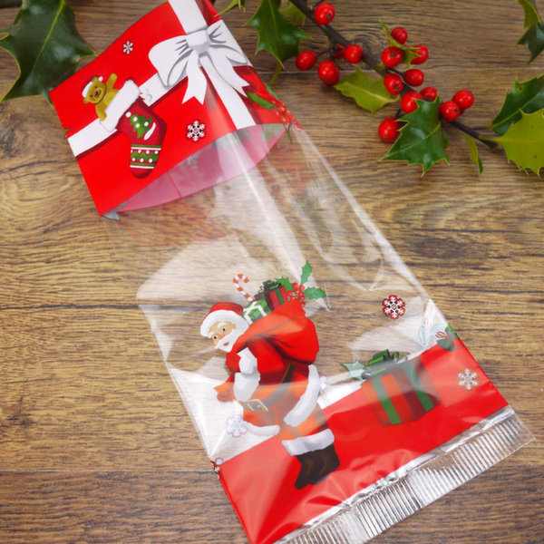 Medium mm crimped base cellophane bags with