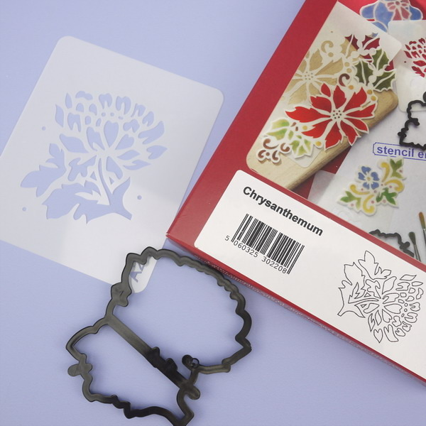 Chrysanthemum Patchwork Cutter & Stencil