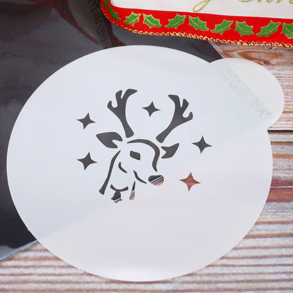 Rudolph Reindeer Head Cookie Stencil