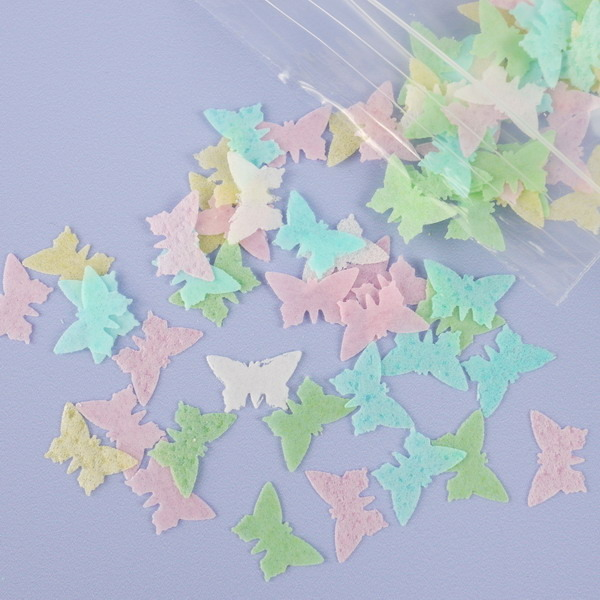 Pack Of 150 Pastel Mix Wafer Butterfly Confetti