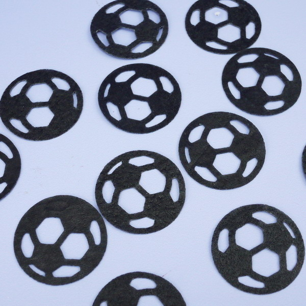 Pack Of 12 Black Wafer Footballs