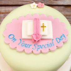Pink & White Sugar Open Bible Plaque 'On Your Special Day'