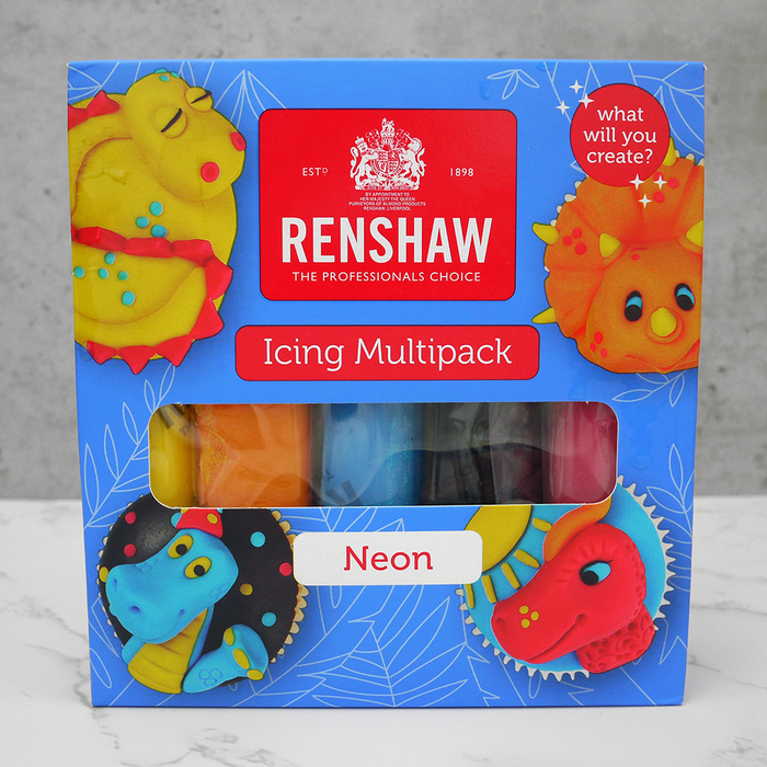 Renshaw Ready To Roll 5 Colour Multipack Neons Icing (Sugarpaste)